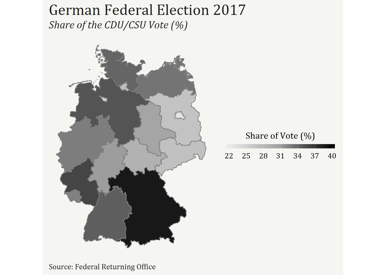 Map Of Germany To Color.Using R To Analyse The German Federal Election